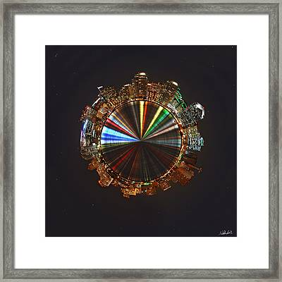 Planet Wee San Diego California By Night Framed Print by Nikki Marie Smith