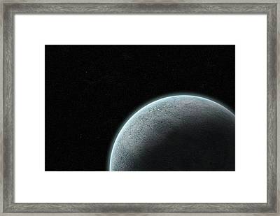 Planet With Atmosphere Framed Print by Richard Newstead