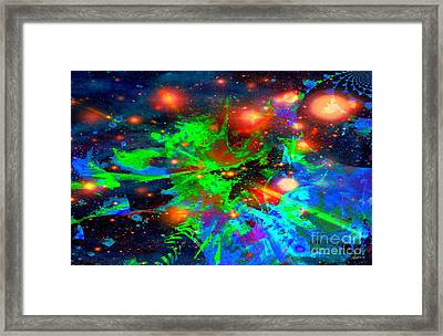 Planet With No Dark Side Of Democracy Framed Print