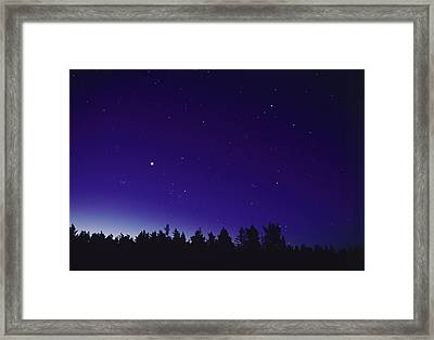Planetary Conjunction Framed Print by Pekka Parviainen
