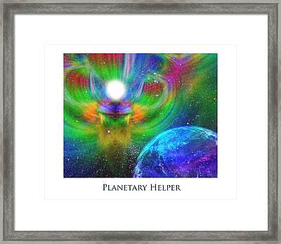 Planetary Helper Framed Print by Jeff Haworth