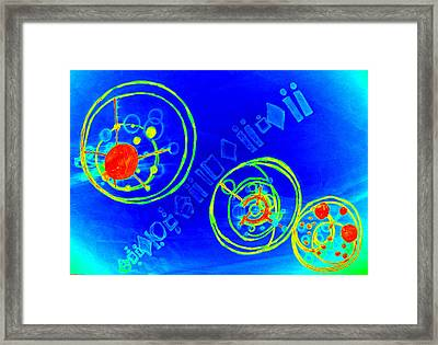 Planets Collide Framed Print by Amanda Selmes