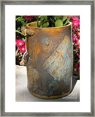 Planter Framed Print by Christine Belt
