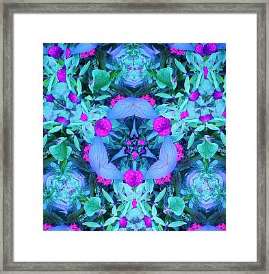 Plants In Blue Framed Print by Bruce Bley