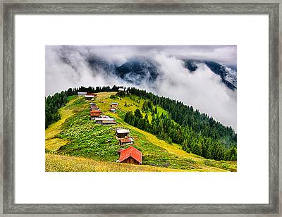 Framed Print featuring the photograph Plateau by Okan YILMAZ