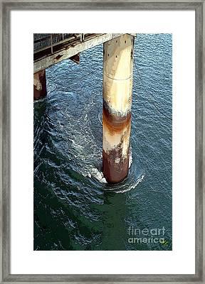Platform Leg Framed Print by Ron Bissett
