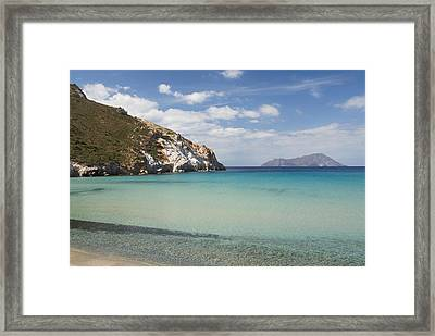 Plathiena Beach Framed Print by Gloria & Richard Maschmeyer