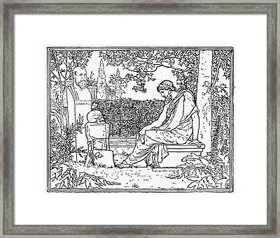 Plato (c427-c347 B.c.) Framed Print by Granger