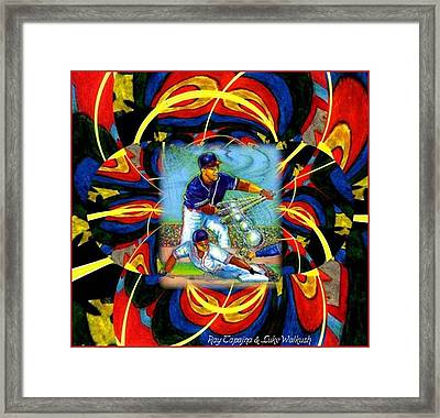 Play Ball  Getting On Base Framed Print