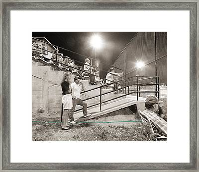 Play Ball Framed Print by Jan W Faul