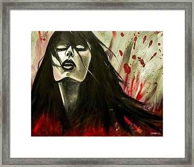 Play In Your Blood Framed Print by Chris  Leon