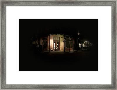 Play Into The Dark Framed Print