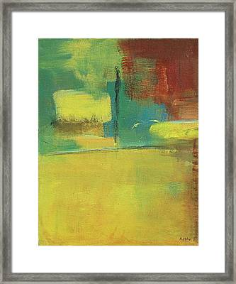 Framed Print featuring the painting Play by Kathy Sheeran