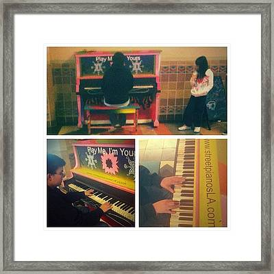 Play Me I'm Yours - 30 Public Pianos Framed Print