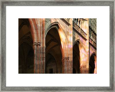 Play Of Light And Shadow - Saint Vitus' Cathedral Prague Castle Framed Print by Christine Till
