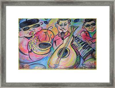 Play The Blues Framed Print by M C Sturman