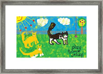 Play Time Jazzy Framed Print by Anita Dale Livaditis
