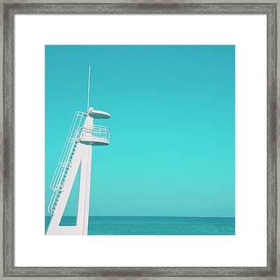 Playa Beach Framed Print by Laura Soler / Tapiz de Mar