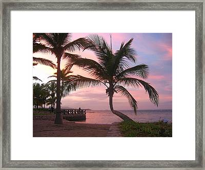 Playa Dorada Sunset 0681 Framed Print