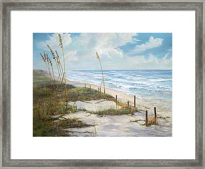 Framed Print featuring the painting Playalinda by AnnaJo Vahle