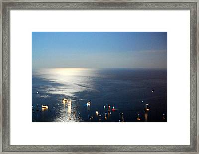 Playas De Noche Framed Print by Eire Cela