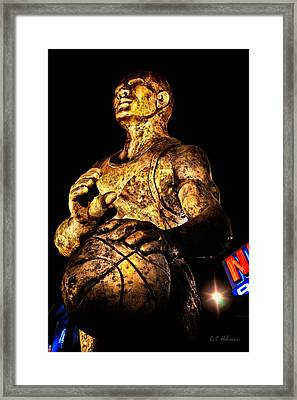Player In Bronze Framed Print