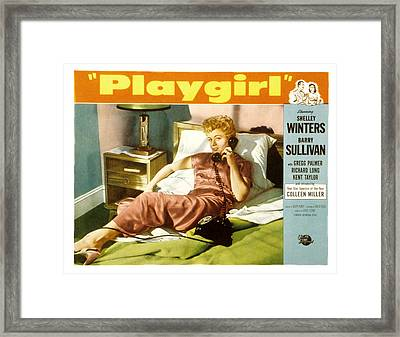Playgirl, Shelley Winters, 1954 Framed Print by Everett