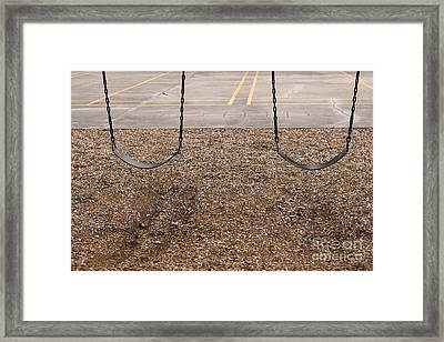 Playground Swings Framed Print by Will & Deni McIntyre