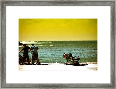 Playing At Beach Framed Print by Nilay Tailor