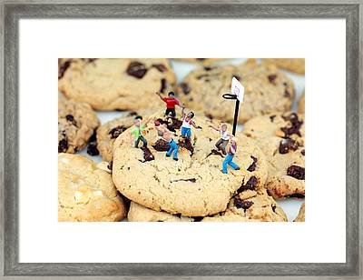 Playing Basketball On Cookies II Framed Print by Paul Ge
