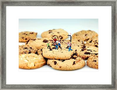 Playing Basketball On Cookies Framed Print by Paul Ge