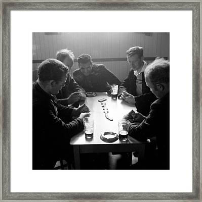 Playing Dominoes Framed Print by John Drysdale