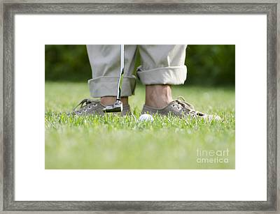 Playing Golf Framed Print by Mats Silvan