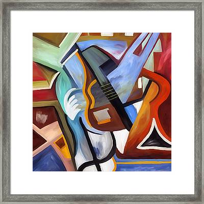 Playing Guitar Framed Print by Amarok A
