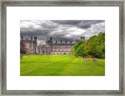 Playing In The Castle Framed Print by Barry R Jones Jr