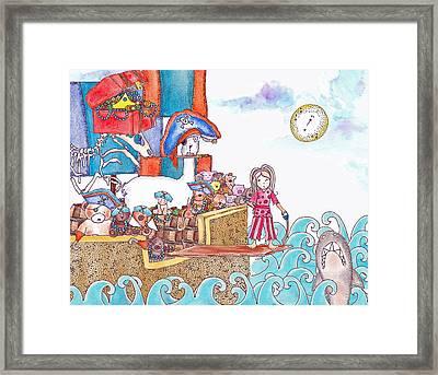 Playing Pirates Framed Print