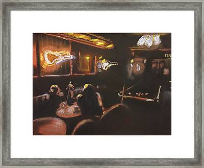Playing Pool Framed Print by Paul Mitchell