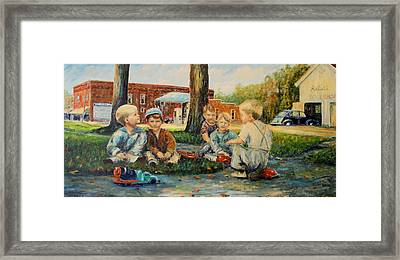 Playing Trucks Framed Print by Daniel W Green