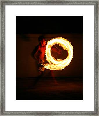 Playing With Fire Framed Print by Bruce J Robinson