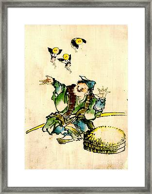 Playing With Pixies 1840 Framed Print by Padre Art