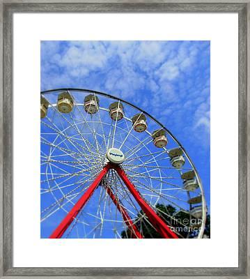 Playland Ferris Wheel Framed Print by Maria Scarfone
