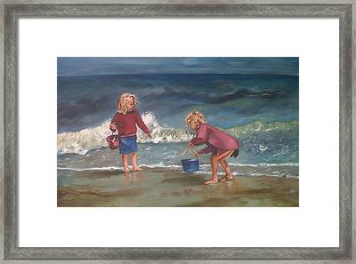 Playtime At The Beach Framed Print by Elani Van der Merwe