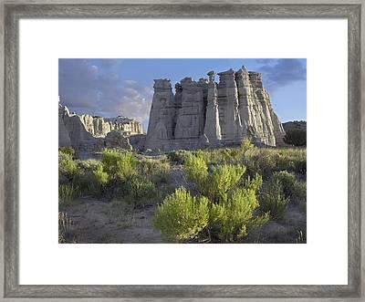Plaza Blanca Near Abiquiu New Mexico Framed Print