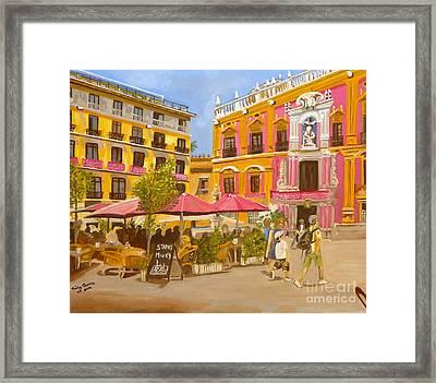 Plaza Malaga Framed Print