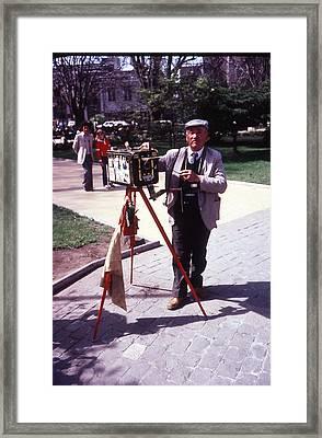 Plaza Photographer Framed Print