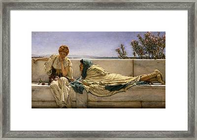 Pleading Framed Print by Sir Lawrence Alma-Tadema