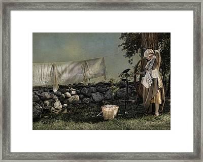 Pleasant Encounter Framed Print by Robin-Lee Vieira