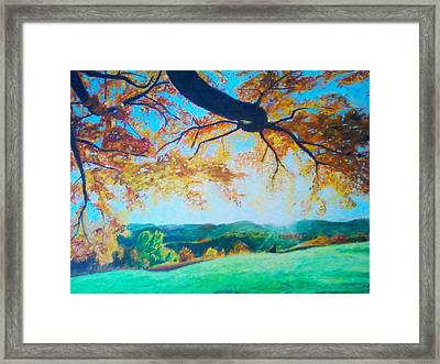 Pleasant Valley In Fall Framed Print by Samuel McMullen