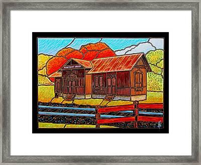 Pleasant Valley Station Framed Print