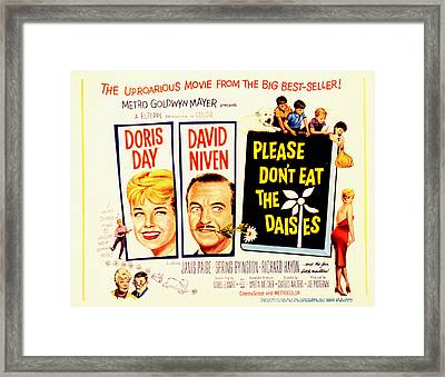 Please Dont Eat The Daisies, Doris Day Framed Print